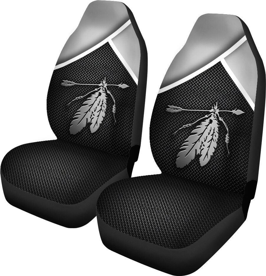 Native feather arrow black seat cover 1