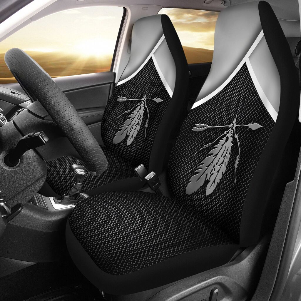 Native feather arrow black seat cover