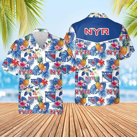 New York Ranger Hawaiian Shirt and short