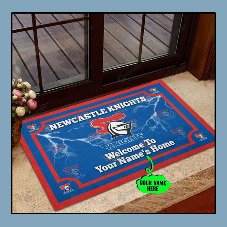 Newcastle Knights welcome to home custom name doormat1