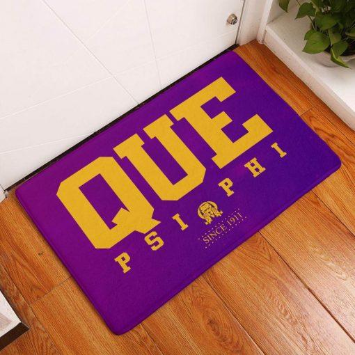 Omega Psi Phi Since 1911 Que Psi Phi Doormat1