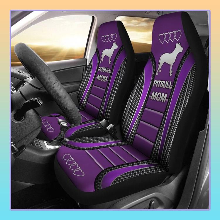 Pitbull Mom Car Seat Cover 3