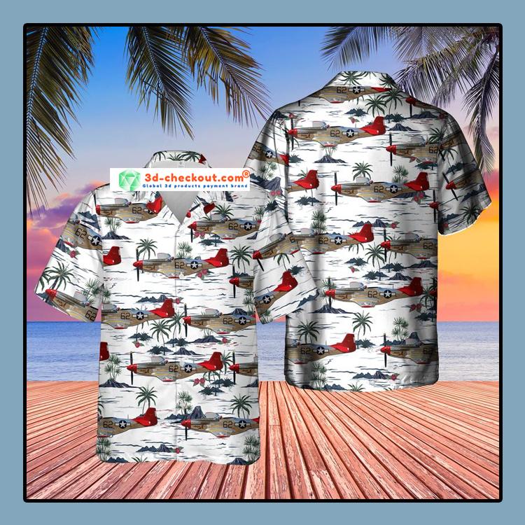 Red Tail Mustang Bunny Hawaiian Shirt3