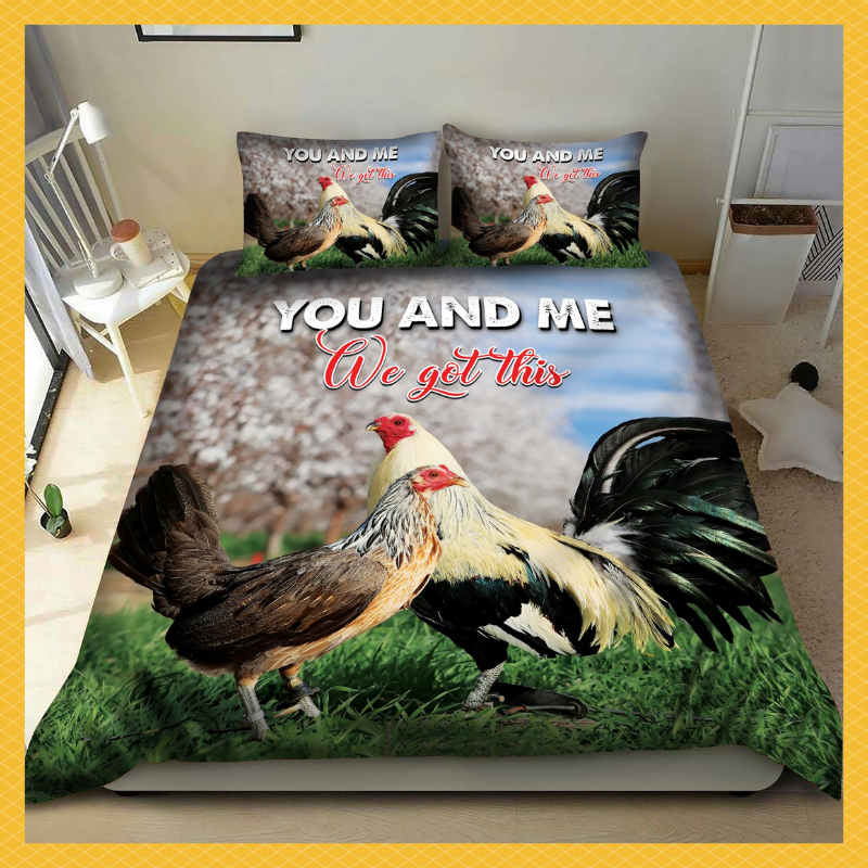 Rooster you and me we got this bedding set 4