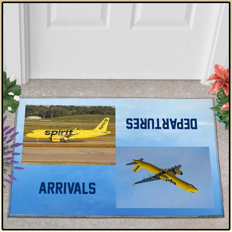 Spirit Airlines Airbus A320 271N departures arrivals doormat 2
