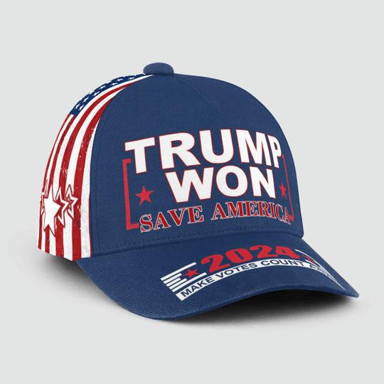 Trump Won Save American 2024 Make Votes Count Again Cap