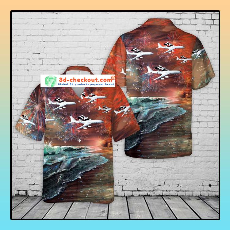 United States Air Force Boeing Hawaiian Shirt And Shorts1