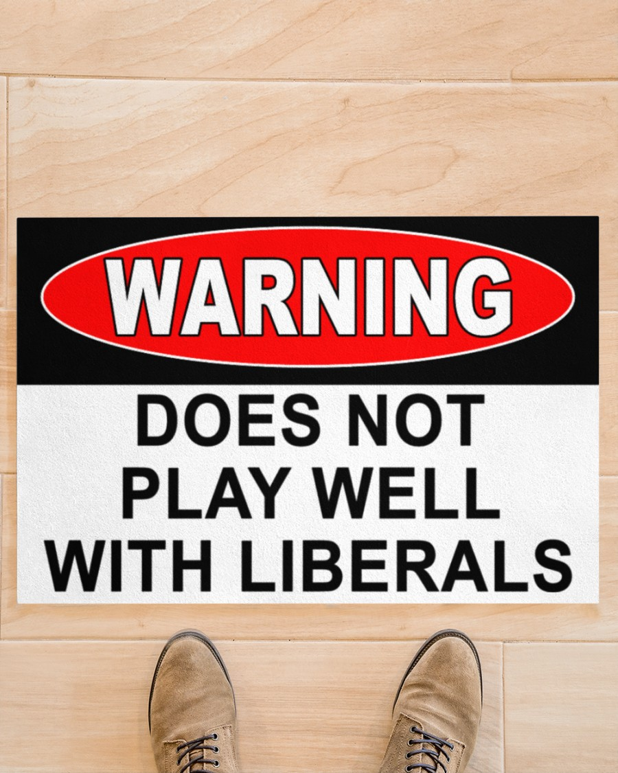 Warning does not play well with liberals flag 1