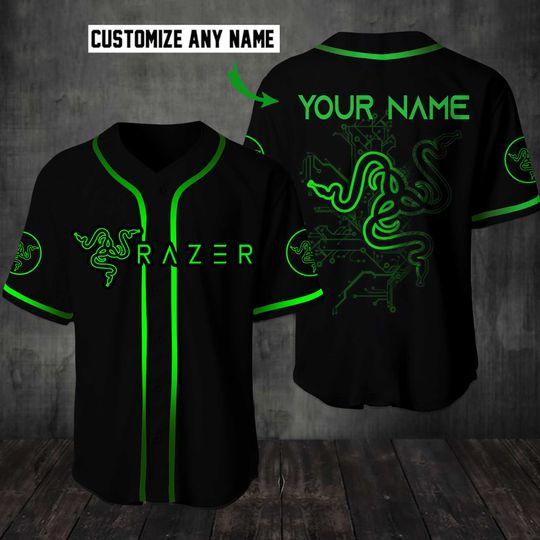 10 Razer Custom Name Baseball Jersey Shirt 1