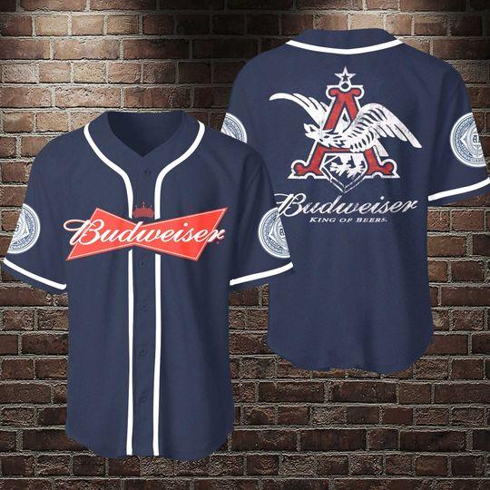 11 Budweiser King Of Beers Baseball Jersey Shirt 1