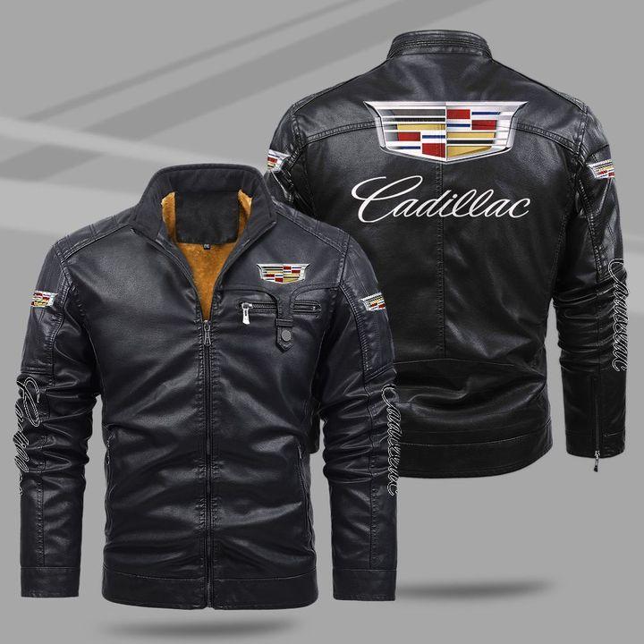 11 Cadillac fleece leather jacket 1