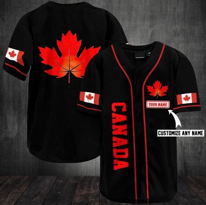 12 Canada Custom Name Baseball Jersey 2