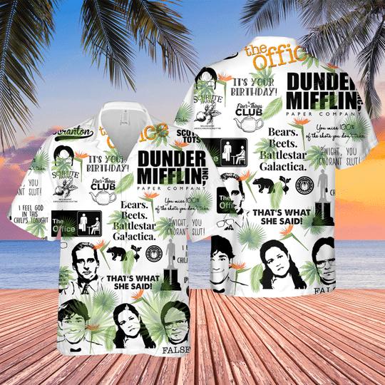 14 Dunder Mifflin Hawaiian Shirt And Short 1