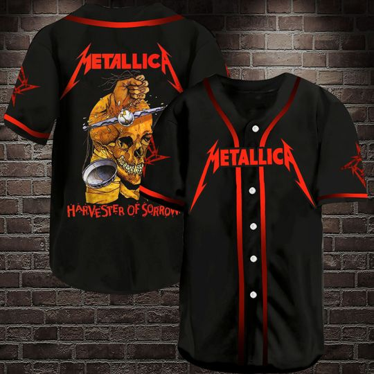 14 Metallic Harvester Of Sorrow Baseball Jersey Shirt 1