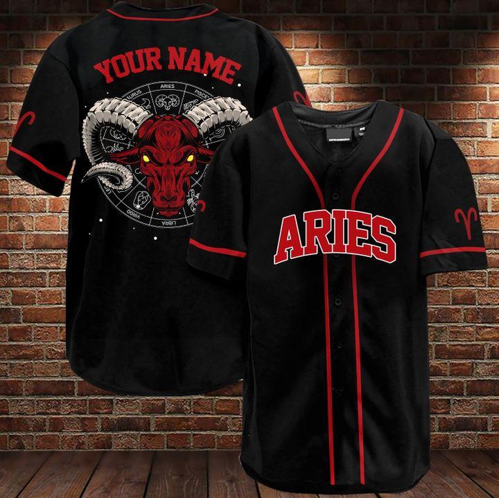 15 Aries Custom Name Baseball Jersey 3