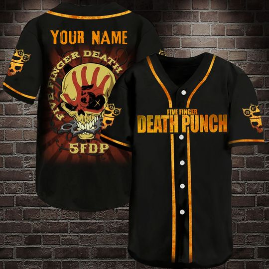 2 Five Finger Death Punch Personalized Baseball Jersey Shirt 1