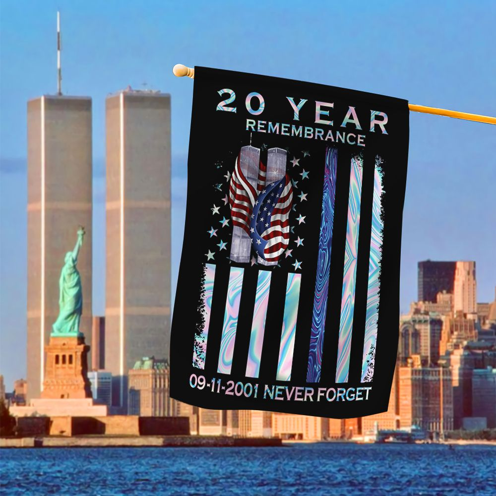 20 year remembrance never forget 9 11 flag 2