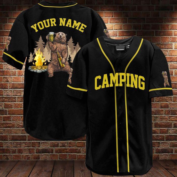 27 Bear Camping custom name baseball jersey 3