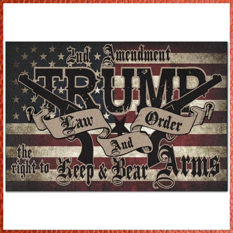 2nd Amendment Trump law and order doormat 1
