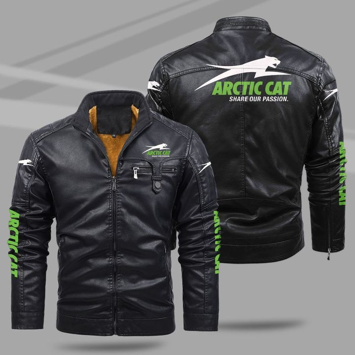 3 Arctic Cat Share Our Passion fleece leather jacket 1