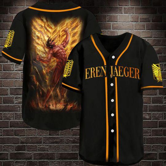 3 Eren Jaeger Baseball Jersey Shirt 1