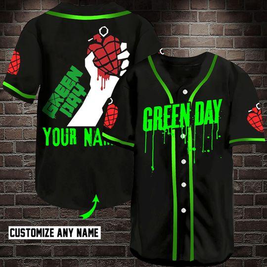 4 Green Day Custom Name Baseball Jersey Shirt 1