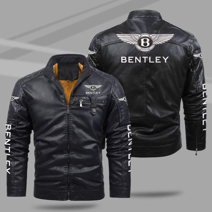 6 Benttley fleece leather jacket 1