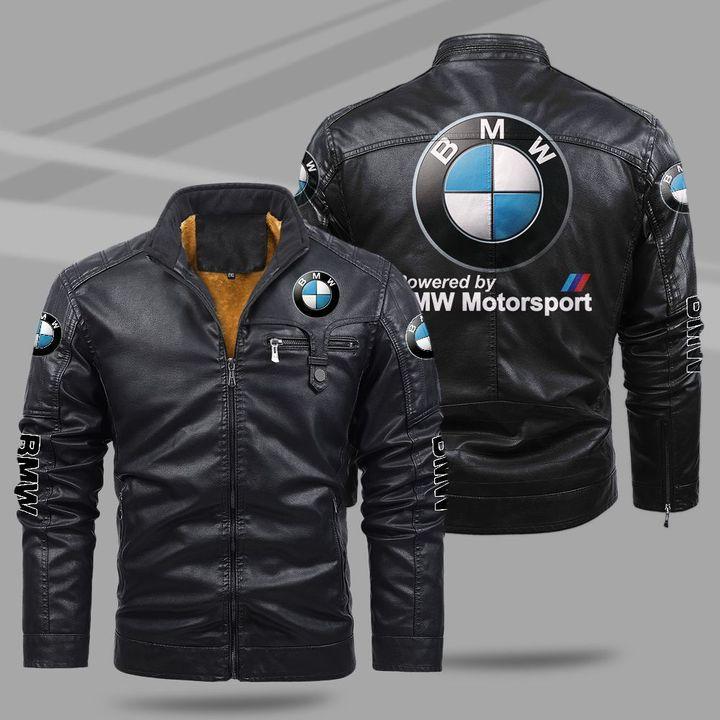 7 BMW Motorsport fleece leather jacket 1