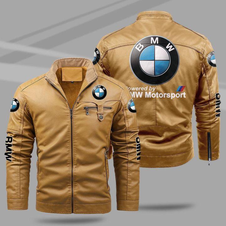 7 BMW Motorsport fleece leather jacket 2