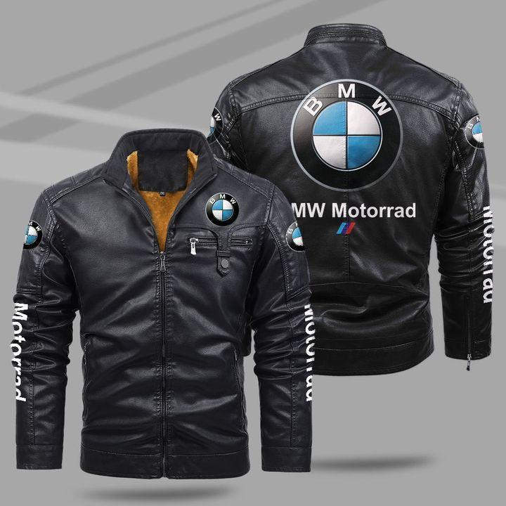8 BMW Motorrad fleece leather jacket 1