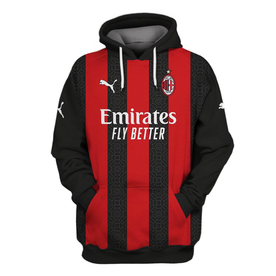 Ac milan hoodie and shirt1