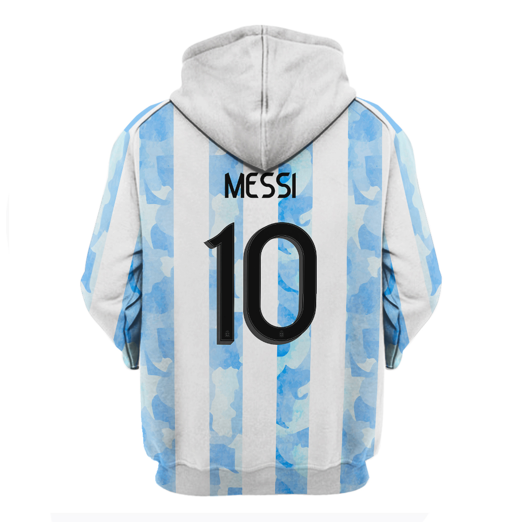 Adidas Argentina Leo Messi 10 3d hoodie and shirt 1