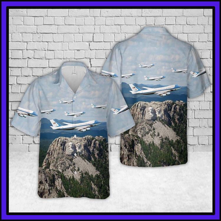 Air force one hawaiian shirt3