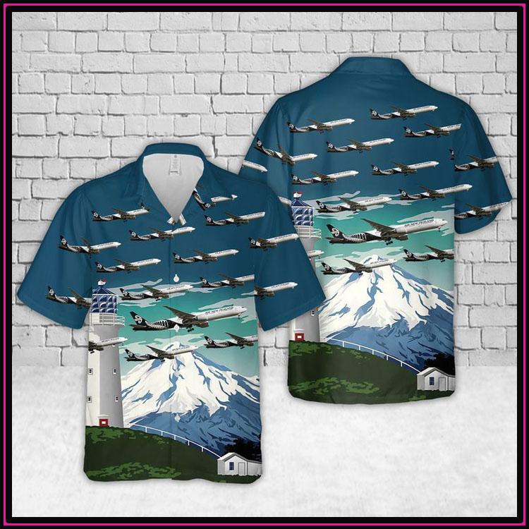 Air new zealand bombardier dash 8 q300 hawaiian shirt3