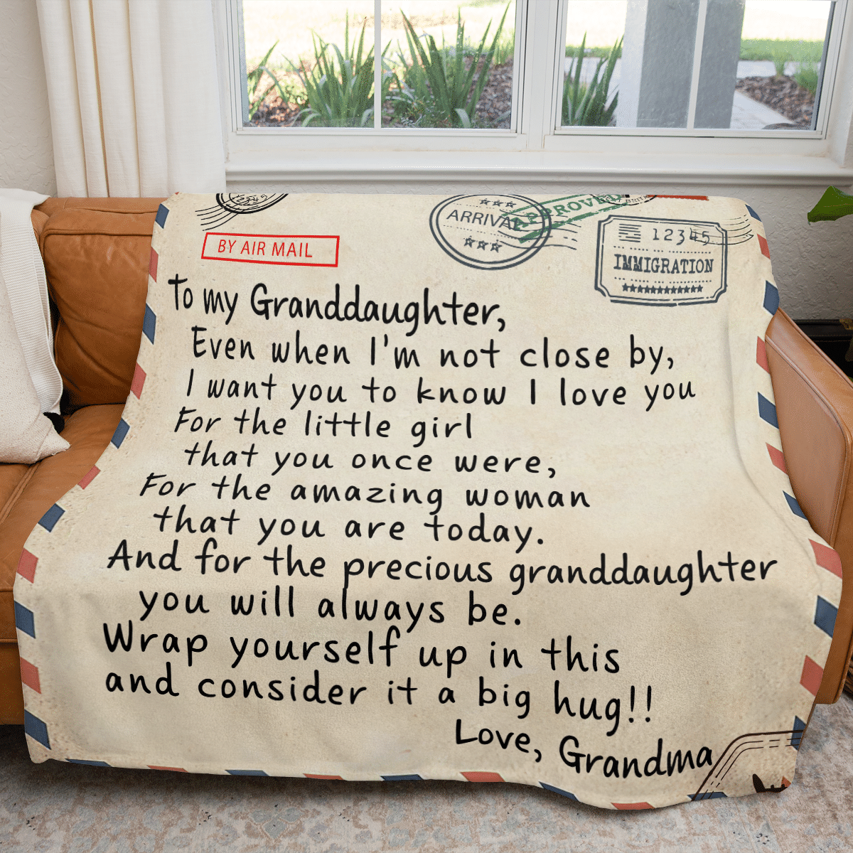 Airmail from Grandma To my Granddaughter blanket