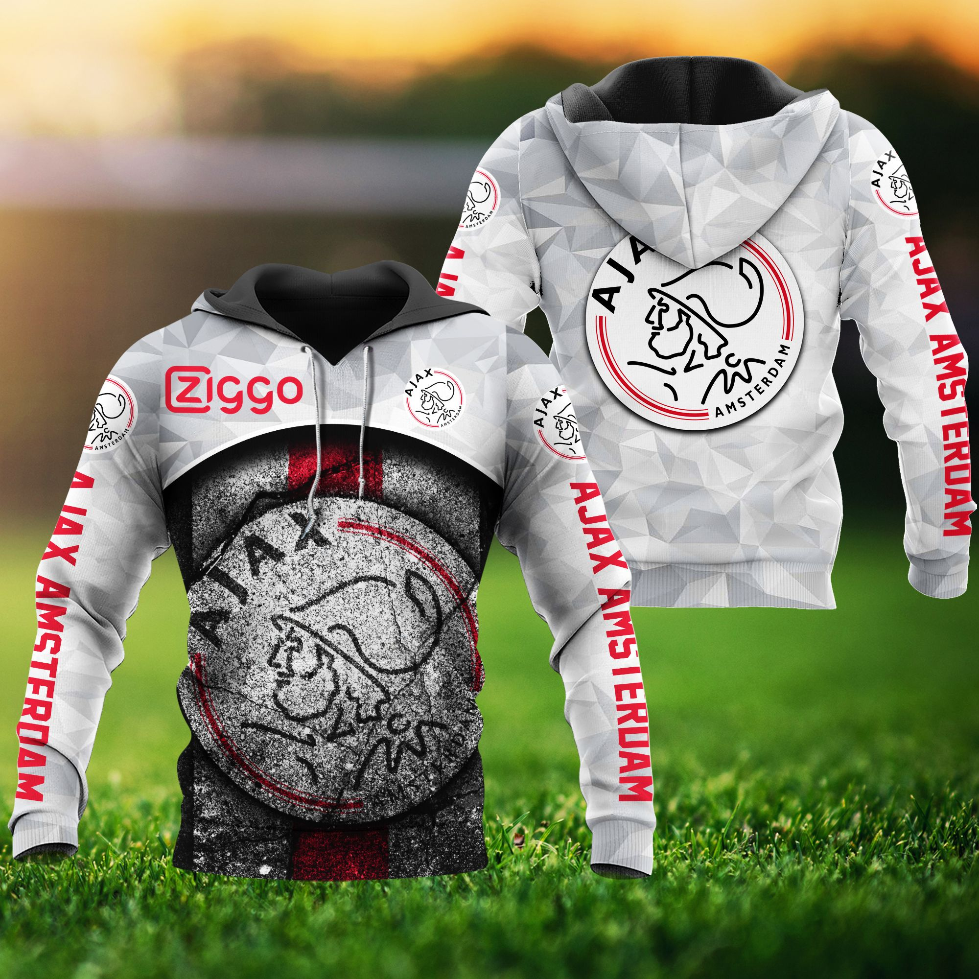 Ajax Amsterdam 3d all over print hoodie