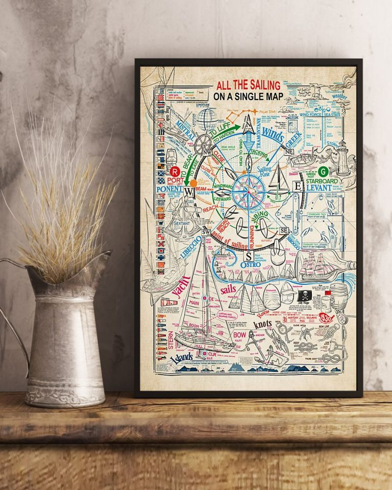 All the sailing on a single map poster 1