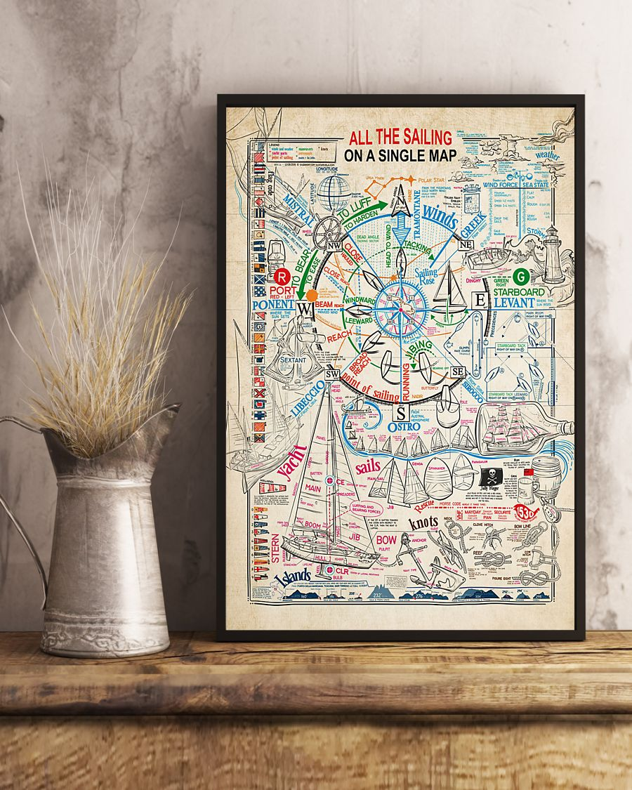 All the sailing on a single map poster
