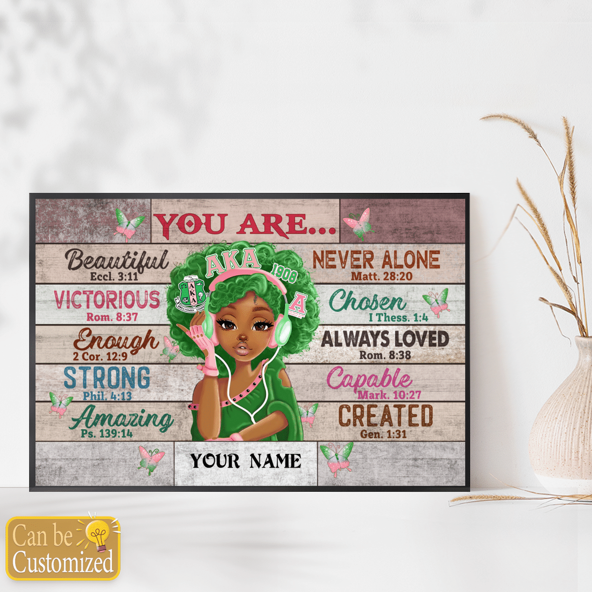 Alpha Kappa Black teenage you are beautiful strong always loved custom name poster 3