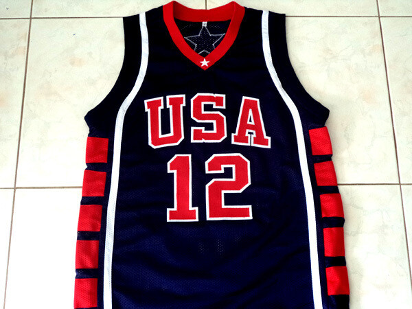 Amare Stoudemire 12 Team USA Basketball Jersey Navy Blue1