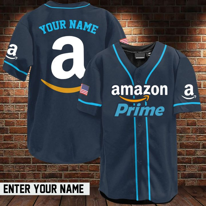 Amazon prime custom name baseball jersey