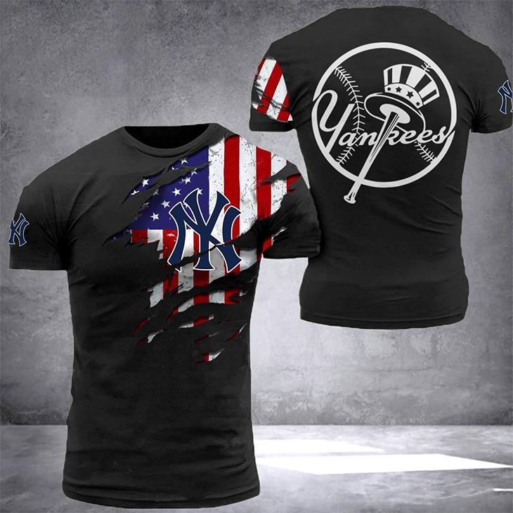 American Flag YanKees T Shirt2
