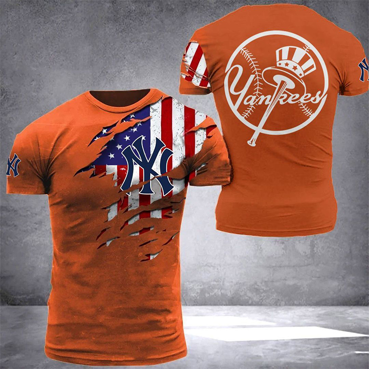 American Flag YanKees T Shirt3