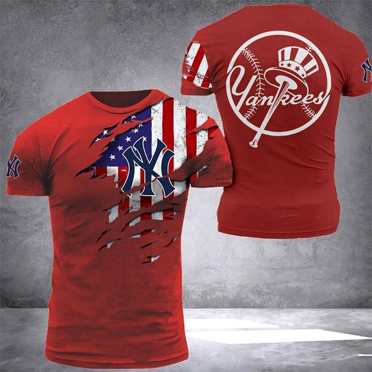 American Flag YanKees T Shirt4