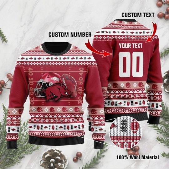 Arkansas Razorbacks custom Ugly Christmas Sweater