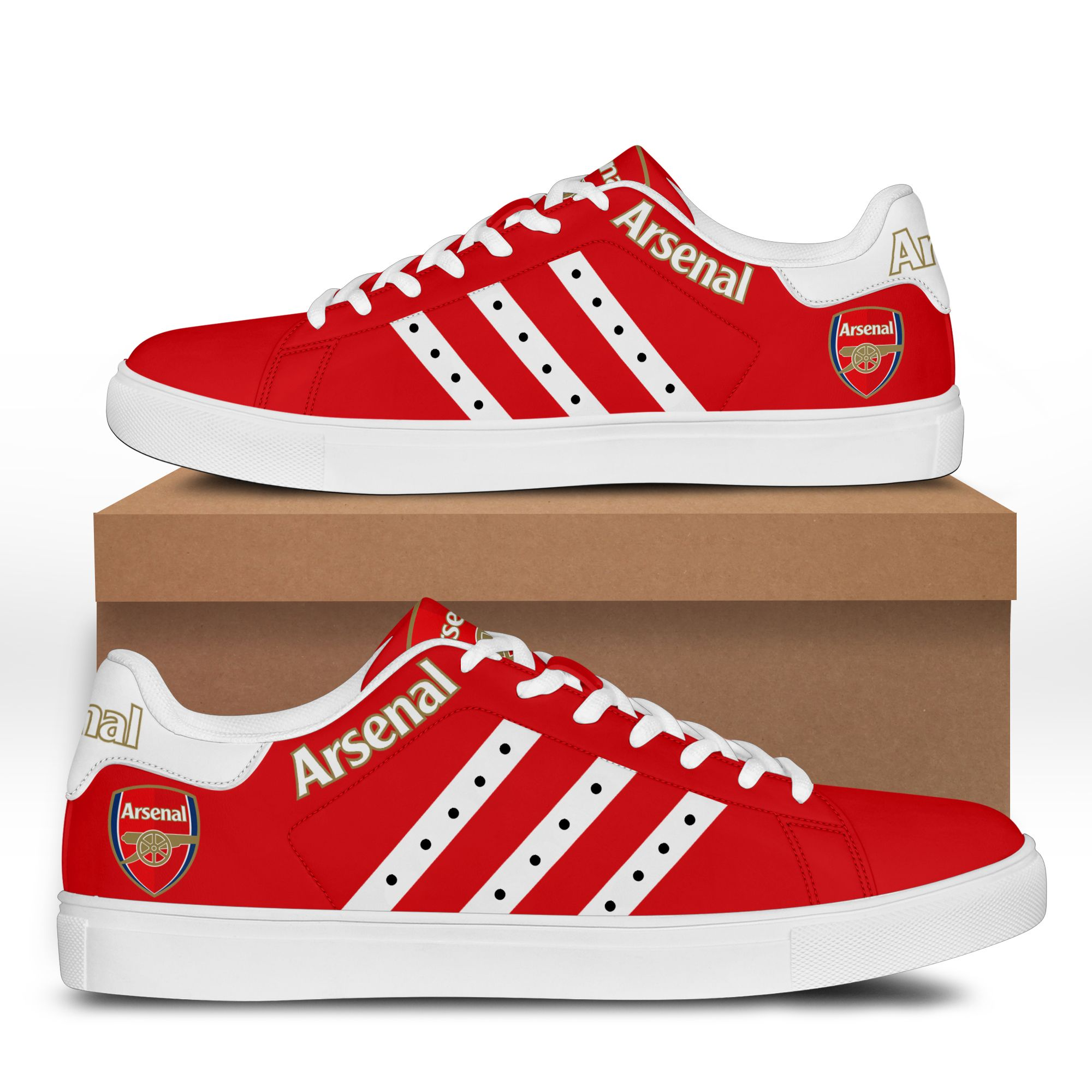 Arsenal stan smith low top shoes 3.3