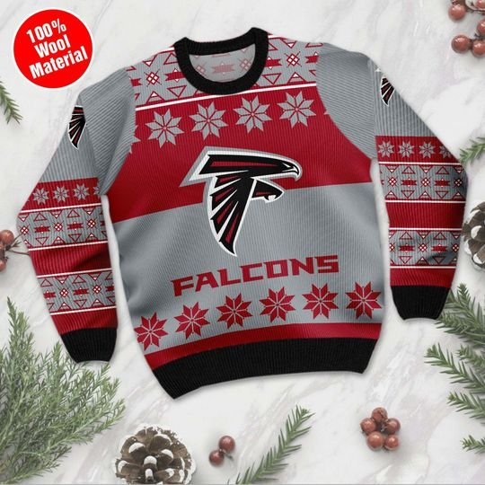 Atlanta Falcons Wool Ugly Christmas Sweater1