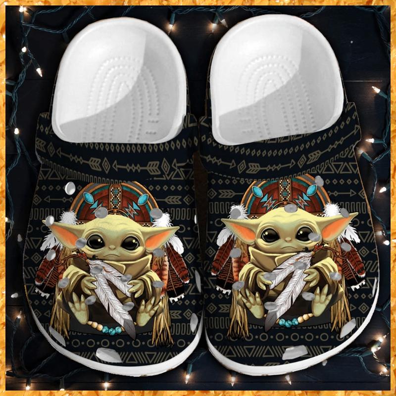 Baby Yoda crocs crocband shoes 2