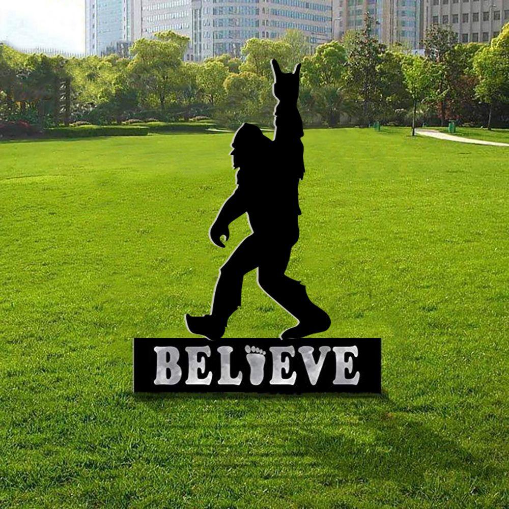 Bigfoot Believer Sasquatch yard sign