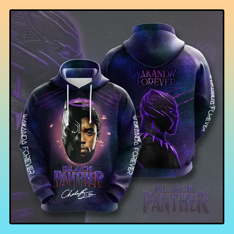 Black Panther Wakanda forever All over print 3d hoodie1 1